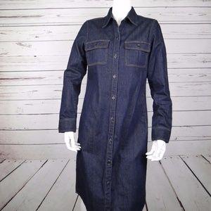 RALPH LAUREN DENIM BUTTON CHAMBRAY SHIRT DRESS